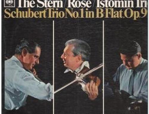 Schubert. Trio N° 1 avec Stern et Rose