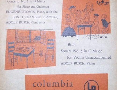 J. S. BACH, Concerto in D minor BWV 1052